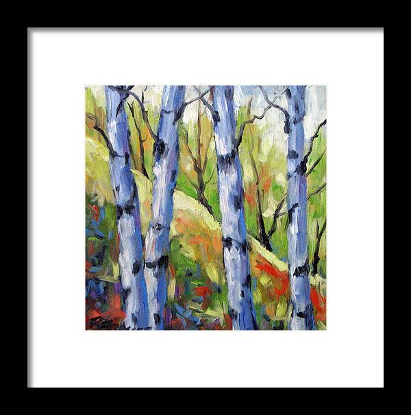 Art Framed Print featuring the painting Birches 09 by Richard T Pranke