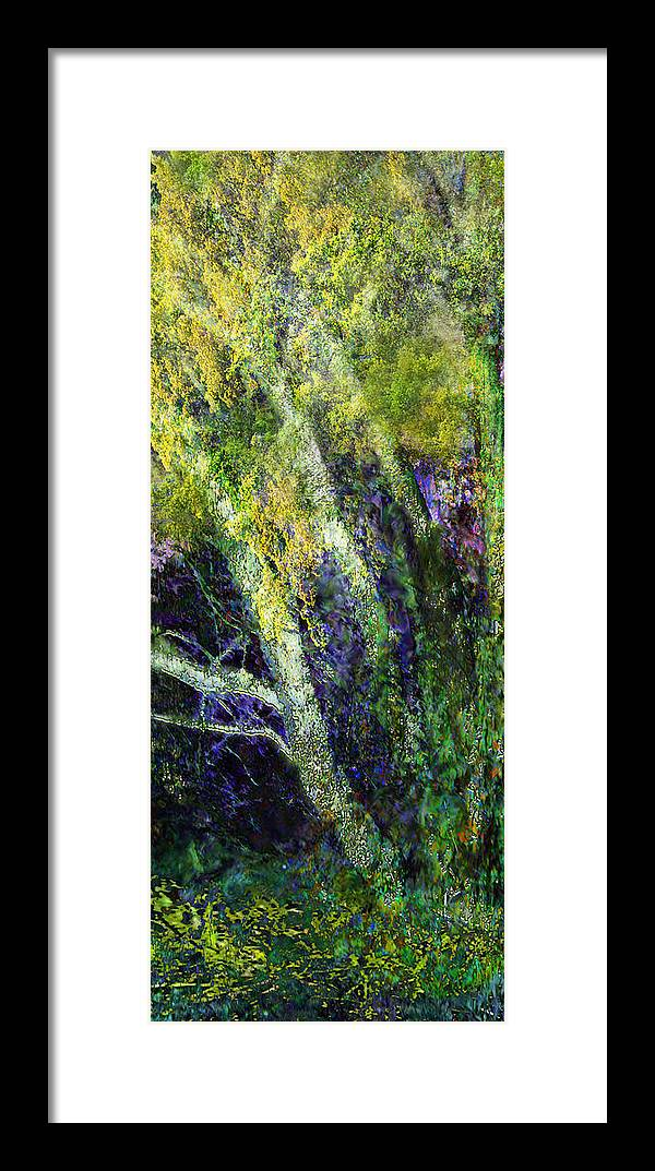Birches Nature Trees Landscape Framed Print featuring the painting Birches by Anne Weirich