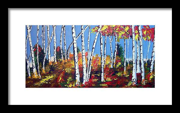 Birches Framed Print featuring the painting Birches by Paul Sandilands