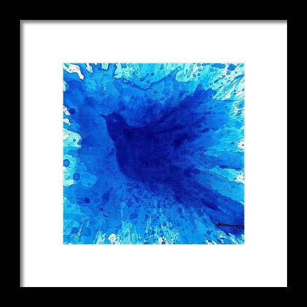 Bath Framed Print featuring the painting Bird Bath 2 by Kume Bryant