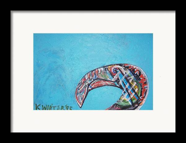 Bird Framed Print featuring the painting Bird by Dave Kwinter