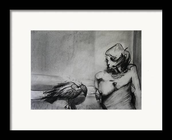 Bird Framed Print featuring the photograph Bird Drama by Brad Wilson