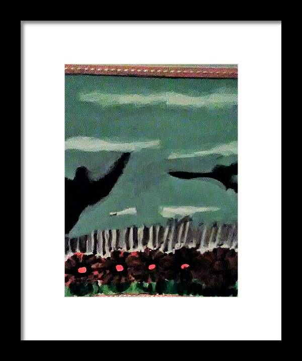 Framed Print featuring the painting Bird Flock by Keisha Manley