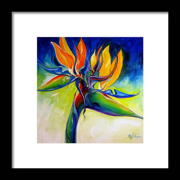 Bird Framed Print featuring the painting Bird Of Paradise 24 by Marcia Baldwin