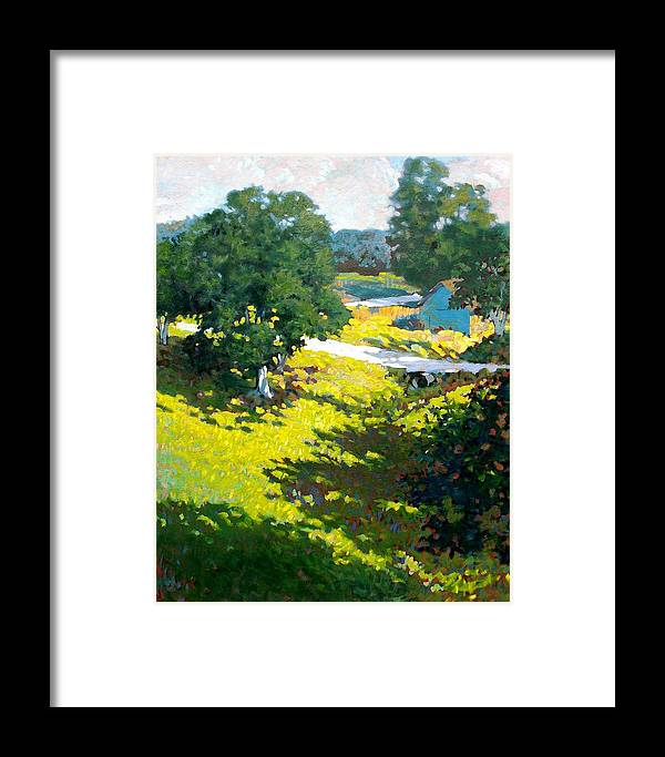 Landscape Framed Print featuring the painting Birds Eye View by Kevin Lawrence Leveque