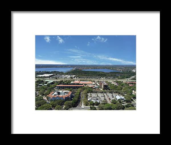 Orlando Florida Framed Print featuring the photograph Birds Eye View Orlando Florida by Aimee L Maher ALM GALLERY