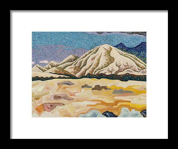 Birdseye Landscape #5 Framed Print featuring the mixed media Birdseye Landscape #5 by Dale Beckman
