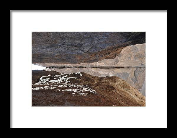 Landscape Framed Print featuring the photograph Birth In Stone by Thor Sigstedt