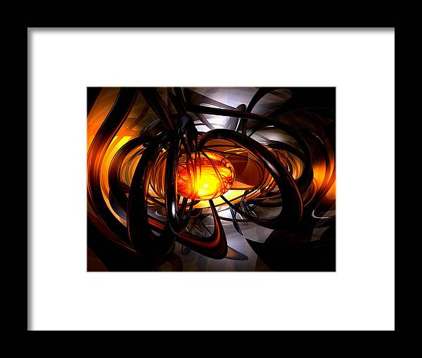 3d Framed Print featuring the digital art Birth Of A Sun Abstract by Alexander Butler