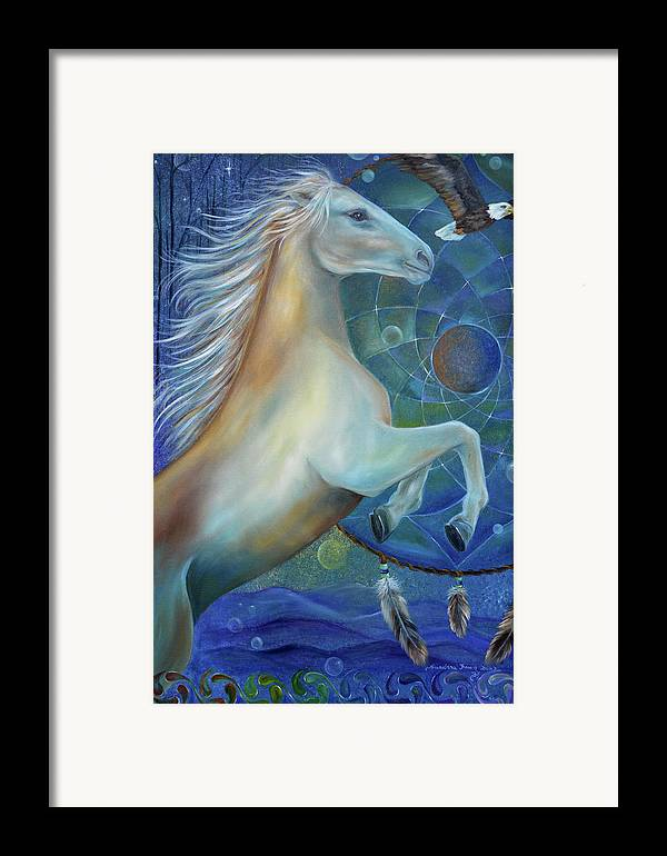Horse Framed Print featuring the painting Birth Of Freedom by Sundara Fawn