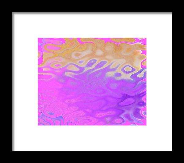Early Morning.water.waves.reflect.colors.end Of Night.birth Of Sun. Framed Print featuring the digital art Birth Of Sun.morning by Dr Loifer Vladimir