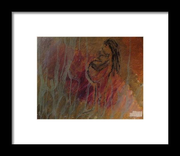 Inspirational Art Framed Print featuring the painting Birth Pains by Lisa Graham