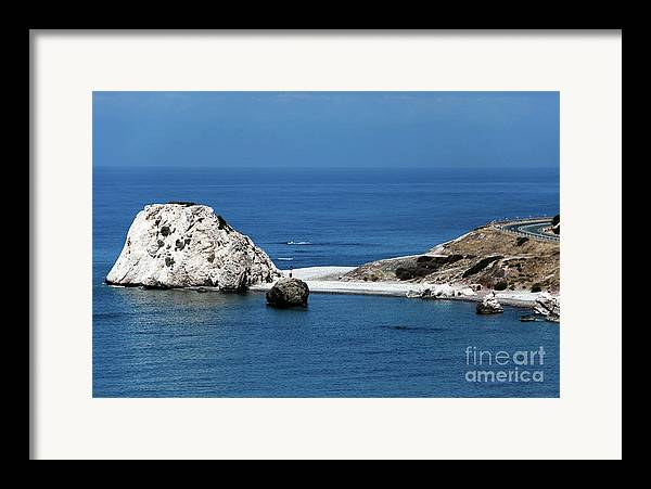 Rock Framed Print featuring the photograph Birth Place Of Aphrodite by John Rizzuto