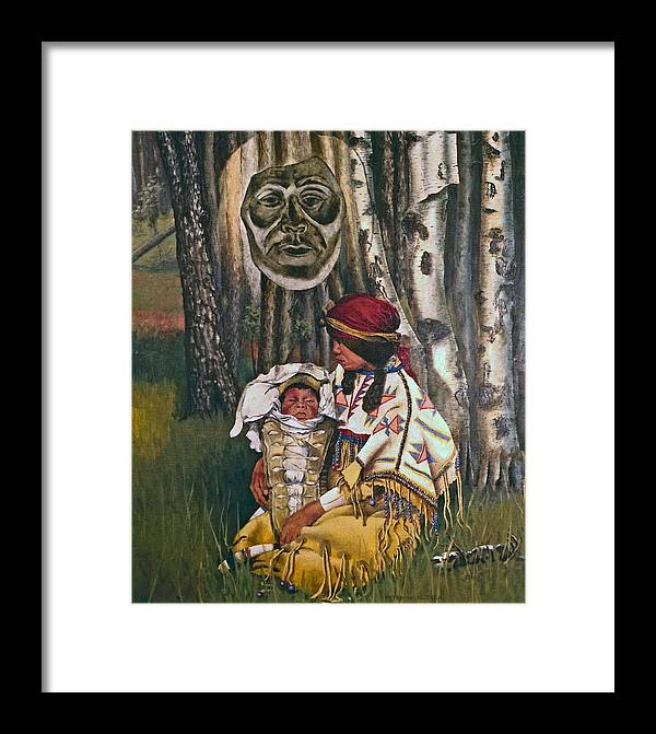 Native American Framed Print featuring the painting Birth Spirit by Peter Muzyka