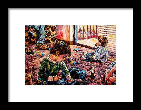 Figure Framed Print featuring the painting Birthday Party Or A Childs View by Kendall Kessler