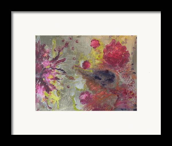 Abstract Paintings Framed Print featuring the painting Birthing by Meshal Hardie