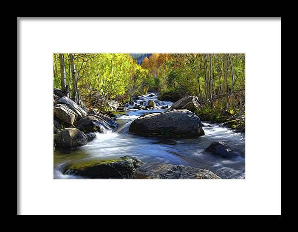 Bishop Framed Print featuring the mixed media Bishop Creek by Eastern Sierra Gallery