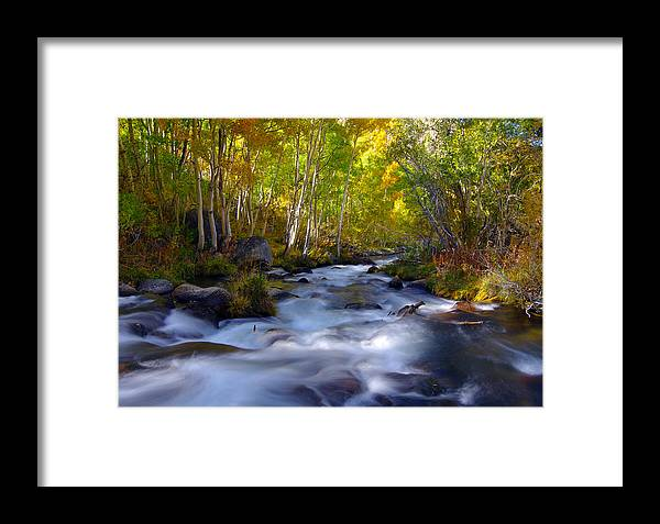 Bishop Creek Framed Print featuring the photograph Bishop Creek In Fall Eastern Sierra Photograph by Frank Lee Hawkins Eastern Sierra Gallery