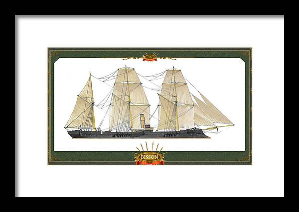 Framed Print featuring the mixed media Bisson by The Collectioner