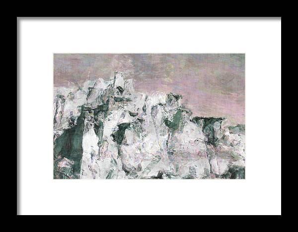 Bisti Framed Print featuring the digital art Bisti 03 by Kim Male