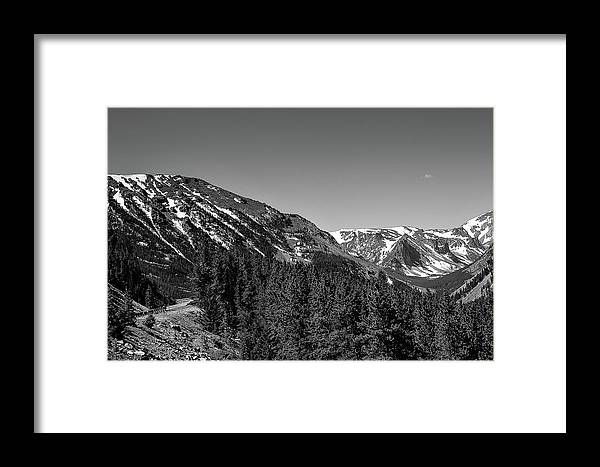 Highway Framed Print featuring the photograph Black And White Beartooth by Sheri Bartoszek