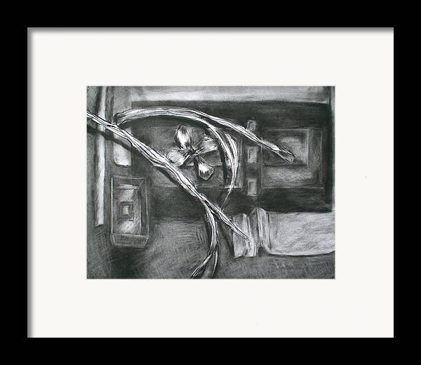 Still Life Framed Print featuring the drawing Black And White Composition II by Aleksandra Buha