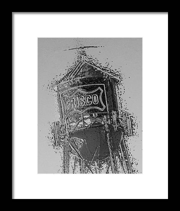 Digital Framed Print featuring the digital art Black And White by Diana Moya