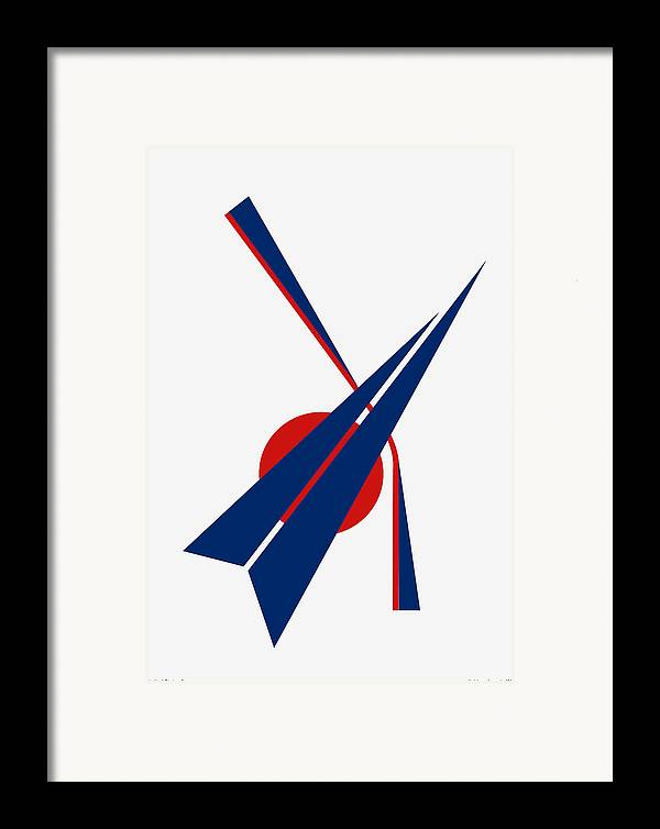Black Arrow Framed Print featuring the digital art Black Arrow by Asbjorn Lonvig