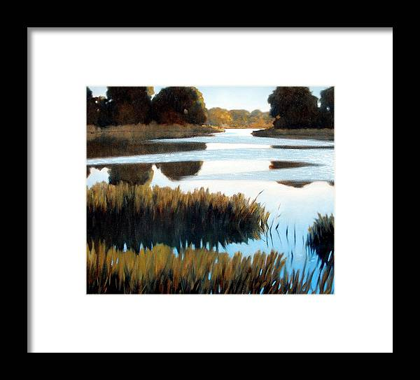 Water Framed Print featuring the painting Black Bayou by Kevin Lawrence Leveque