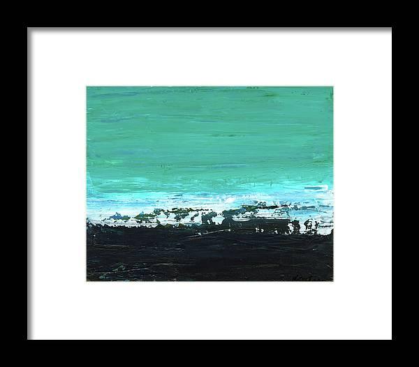 Canvas Print Framed Print featuring the painting Black Beach by K Batson Art