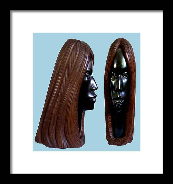 Wood Framed Print featuring the sculpture Black Beauty by Jorge Gomez Manzano