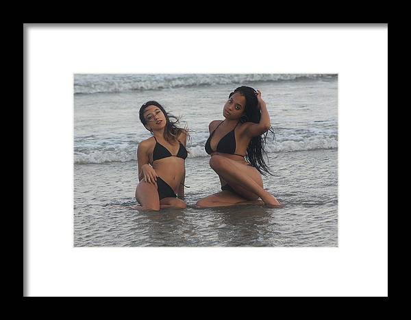 Ebony Framed Print featuring the photograph Black Bikinis 39 by Christopher White