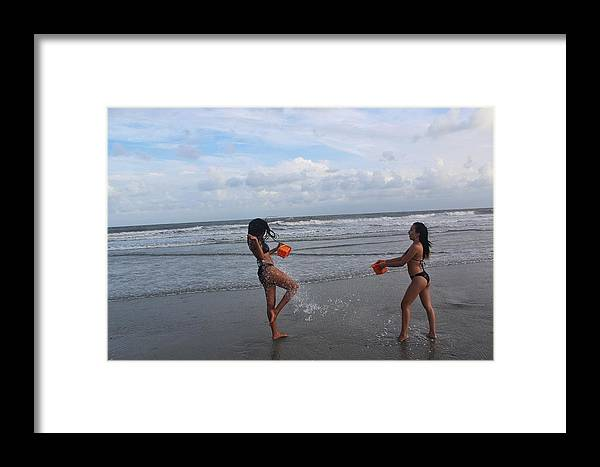 Ebony Framed Print featuring the photograph Black Bikinis 62 by Christopher White