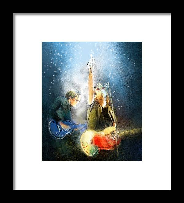 Music Framed Print featuring the painting Black Country Communion 02 by Miki De Goodaboom