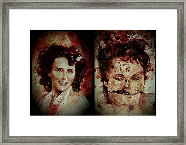 Black Dahlia Elizabeth Short Before And After Framed Print