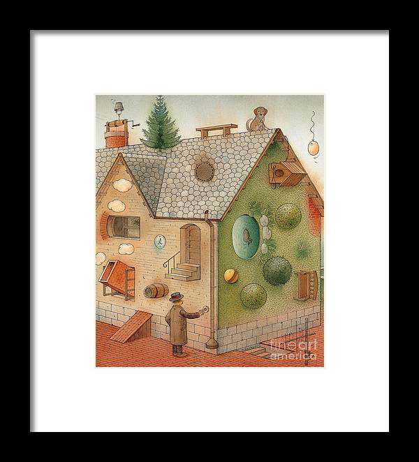 Superstition Home Green Humour Framed Print featuring the painting Black Day by Kestutis Kasparavicius