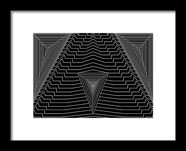 Se-metric Framed Print featuring the digital art Black Diamond by Christopher Rowlands