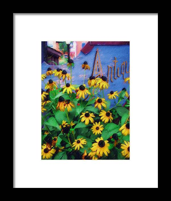 Flowers Framed Print featuring the photograph Black-eyed Susans At The Bag Factory by Sandy MacGowan