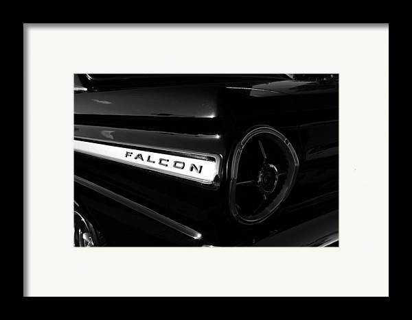 Fine Art Photography Framed Print featuring the photograph Black Falcon by David Lee Thompson