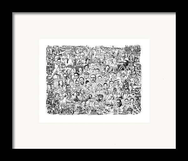 Black History Framed Print featuring the drawing Black Heritage by Dennis Bivens