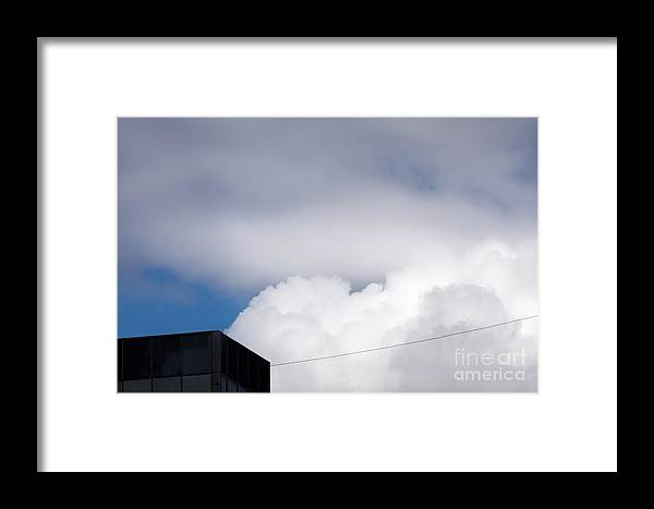 Above Framed Print featuring the photograph Black House #9312 by Andrey Godyaykin