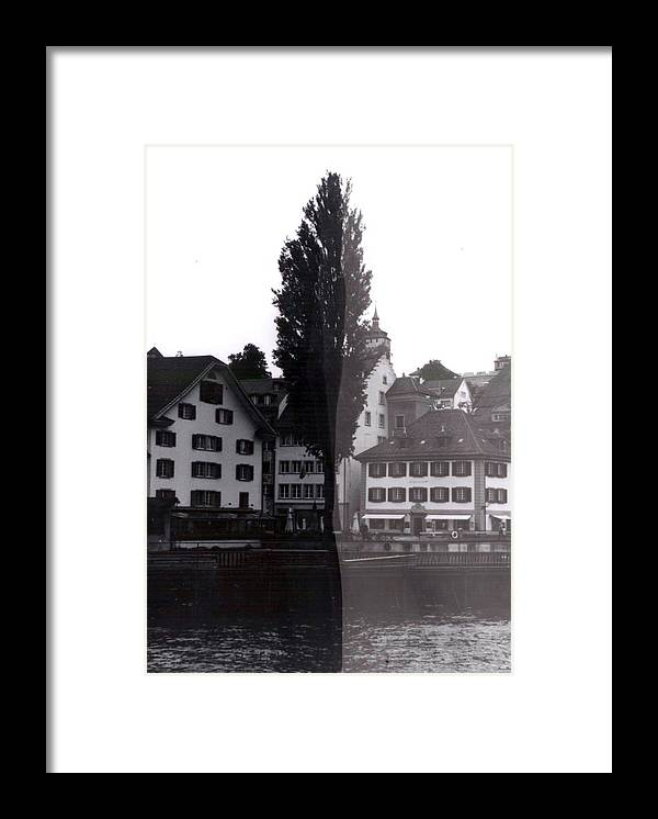 Black And White Framed Print featuring the photograph Black Lucerne by Christian Eberli