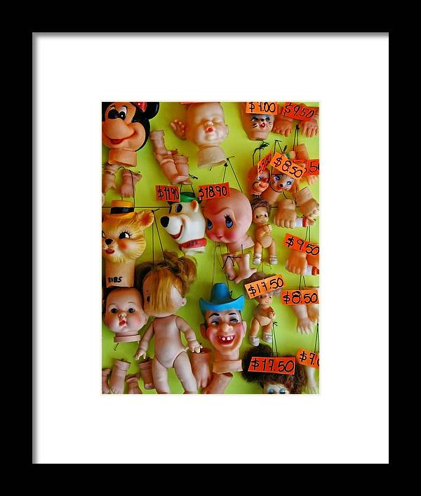 Heads Framed Print featuring the photograph Black Market Parts by Skip Hunt