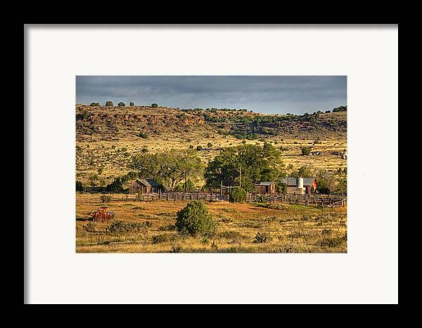 Black Mesa Framed Print featuring the photograph Black Mesa Ranch by Charles Warren