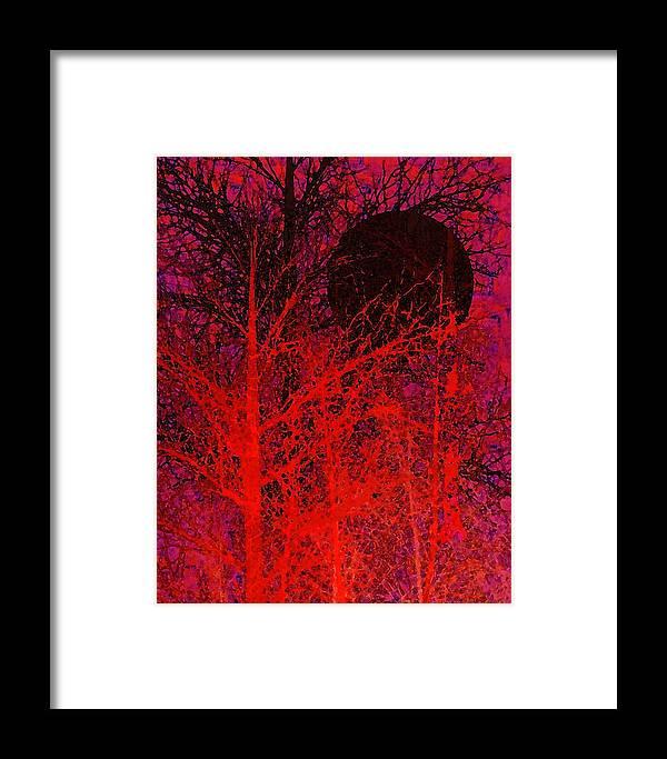 Digital Art Framed Print featuring the digital art Black Moon by Richard Rizzo