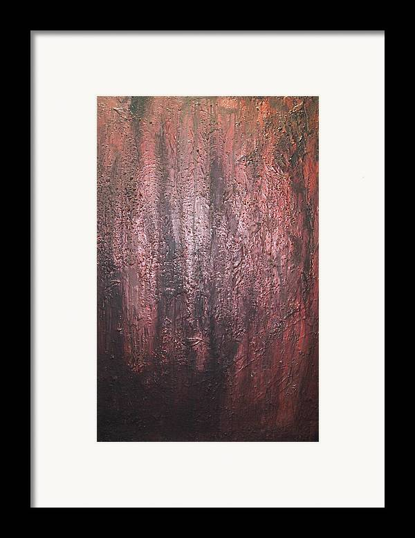 Abstract Framed Print featuring the painting Black No 1 by Elizabeth Klecker