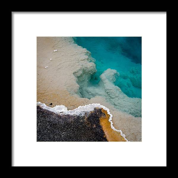 Yellowstone Framed Print featuring the photograph Black Pool Staircase by Brent Magill