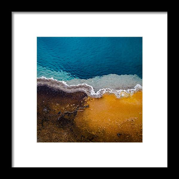 Yellowstone Framed Print featuring the photograph Black Pool Tricolor by Brent Magill
