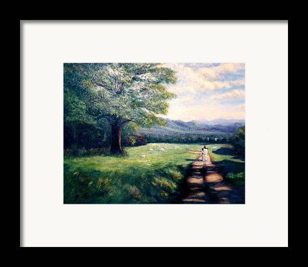 Christian Framed Print featuring the painting Black Sheep by Gail Kirtz