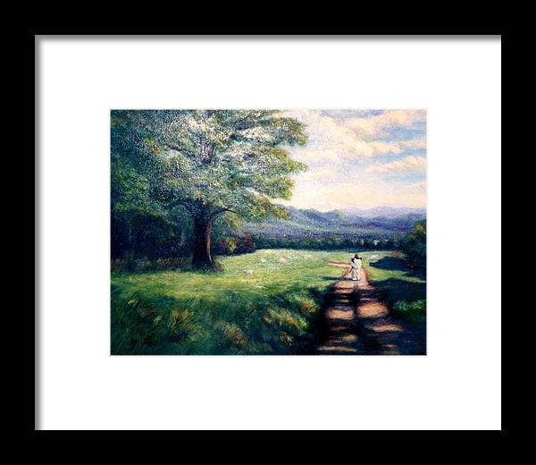 Christian Framed Print featuring the painting Black Sheep by Gail Kirtz